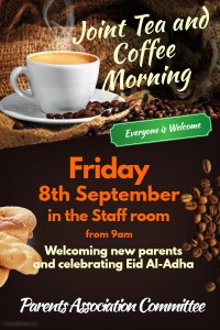 Joint Tea and coffee morning flyer